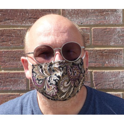 Adjustable Filter Mask - YC Paisley (Black / Burgundy)