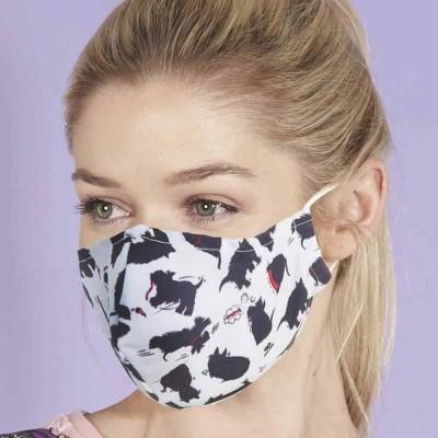 Adjustable Filter Mask - Eco Scotties (White / Black)