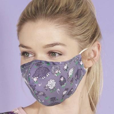 Adjustable Filter Mask - Eco Sheep (Purple)