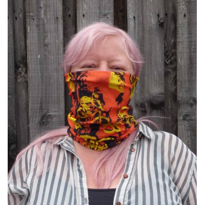 Stretch Snood - Bikes (Orange / Yellow / Black)
