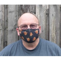 Adjustable Filter Mask - Highland Cows (Black)