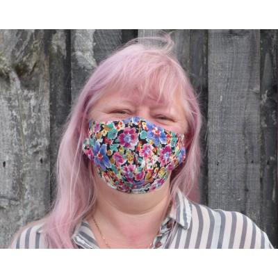 Adjustable Filter Mask - Bright Floral (LS)