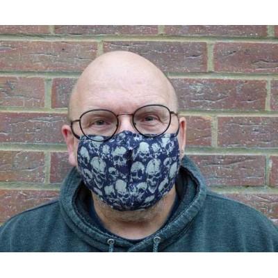 Adjustable Filter Mask - Skulls (Charcoal)