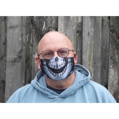 Adjustable Filter Mask - Halloween Face (Black / White)