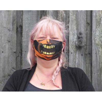 Adjustable Filter Mask - Halloween Face (Black / Orange)