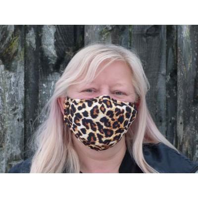 Adjustable Filter Mask - Leopard Print (Brown / Black)