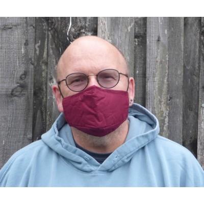Adjustable Filter Mask - Plain Maroon