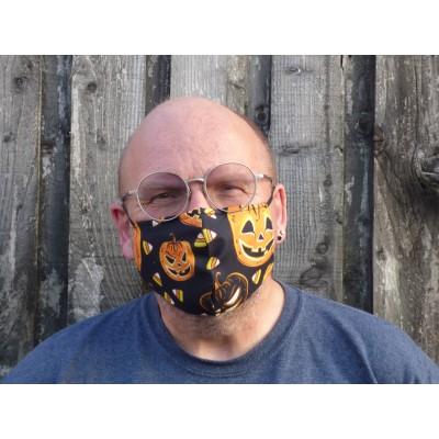 Adjustable Filter Mask - Pumpkin Lanterns