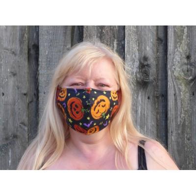 Adjustable Filter Mask - Pumpkin & Bats