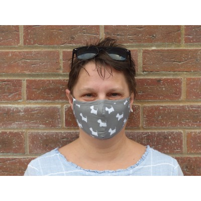 Two Layer Mask - Westies (Grey)