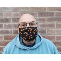 Adjustable Filter Mask - Pumpkins (Black / Orange)