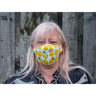 Two Layer Mask - Lemons (Yellow / White)