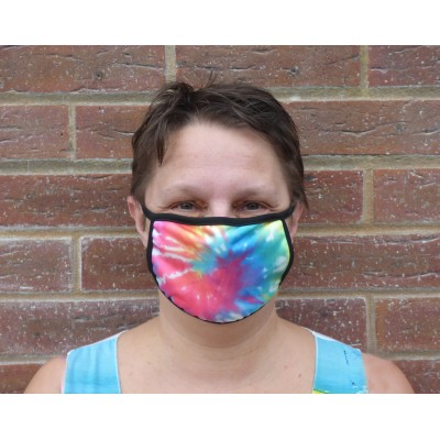 Double Layer Stretch Mask - Bright Tie Dye