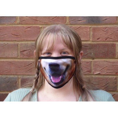 Double Layer Stretch Mask - Happy Dog