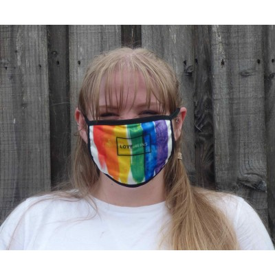 Double Layer Stretch Mask - Love Wins