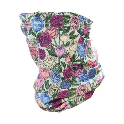 Stretch Snood - Eco Filter Snood - Peonies (Green / Multicoloured)