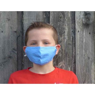 Kids Adjustable Filter Mask - Plain Blue