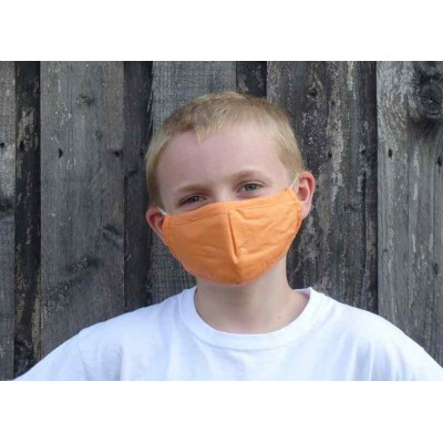 Kids Adjustable Filter Mask - Plain Orange