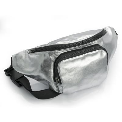 Metallic Bum Bag (Silver)