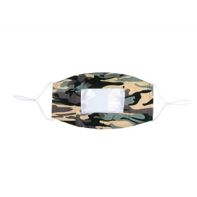 Clear Panel Mask - Camo (Green / Multicoloured)