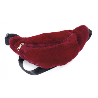 Plush Bum Bag (Maroon)