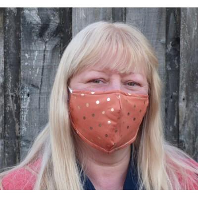 Adjustable Filter Mask - Rose Gold Spots