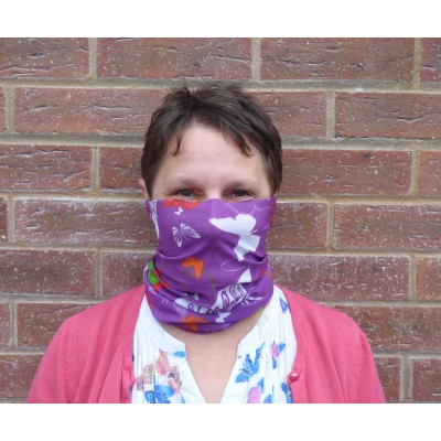 Stretch Snood - Butterflies (Purple)