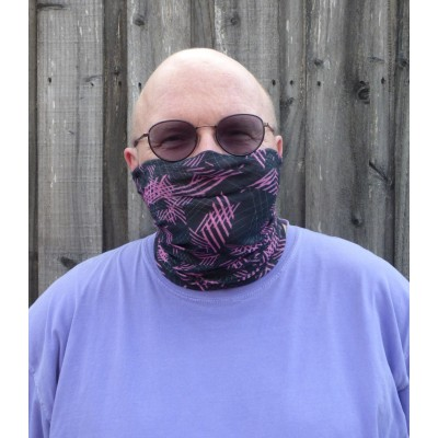 Stretch Snood - Cross Hatch (Magenta / Black)