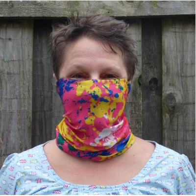 Stretch Snood - Paint Splat (Multicoloured)