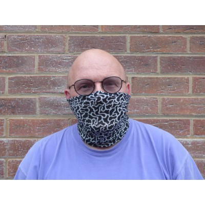 Stretch Snood - Puzzle (Black / White)