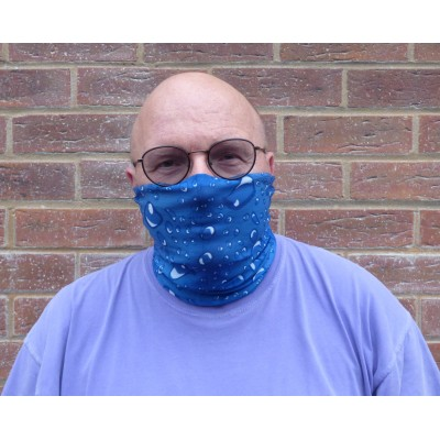 Stretch Snood - Raindrops (Blue)