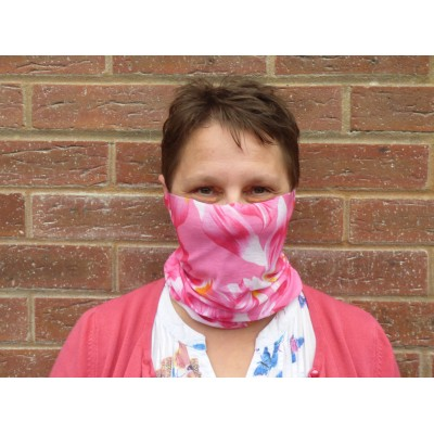 Stretch Snood - Tropical Flower (Pink)