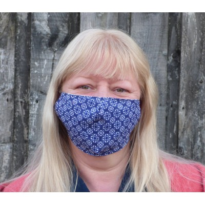 Two Layer Mask - Blue Pottery