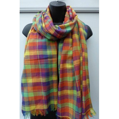 Fair Trade Cotton Rainbow Tartan