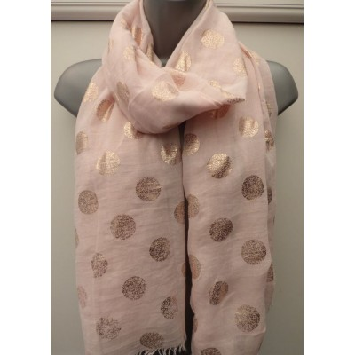 Rose Gold Polka (Light Pink)