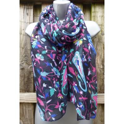 Bright Floral Paisley 2785 (Black)