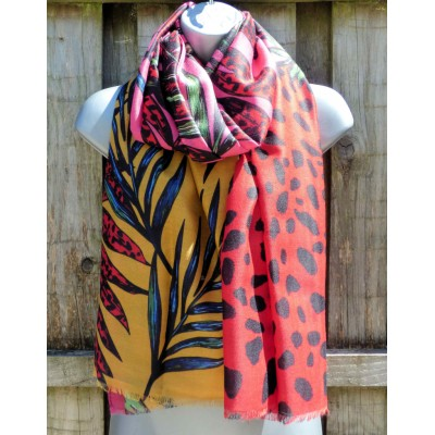 Jungle Animal Print (Red / Pink / Mustard)