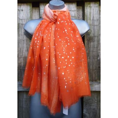 Orange & Silver Splash SH2707