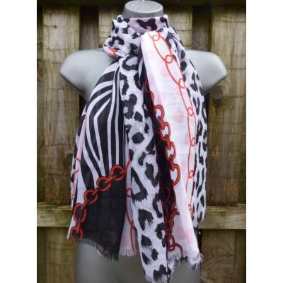 Polka Animal Chains 3510 (Black / White / Red)