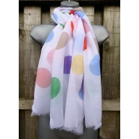 Rainbow Polka (White)