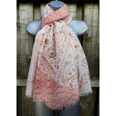 Rose Gold Paisley (Cream / Russet)