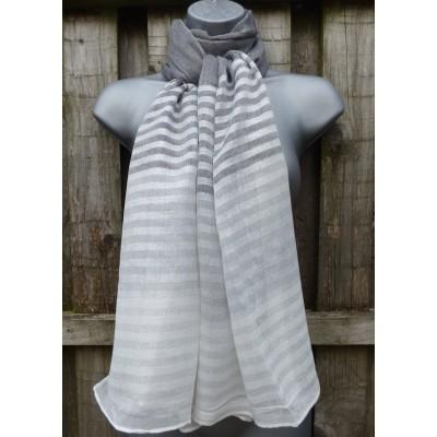 Shimmer Stripes M2344 (Grey / White)
