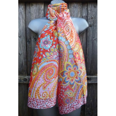 Silk Mix Paisley (Red)