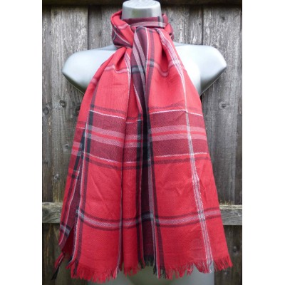 Silver Thread Plaid (Red)