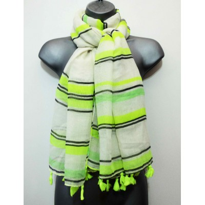 Tasselled Neon Stripes SH2540 (Lime)