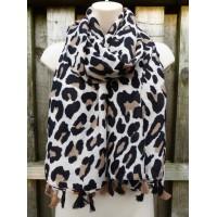 Tasselled Winter Leopard (Light Cream)
