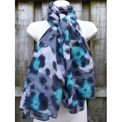 Vivid Leopard Print 3720 (Turquoise)