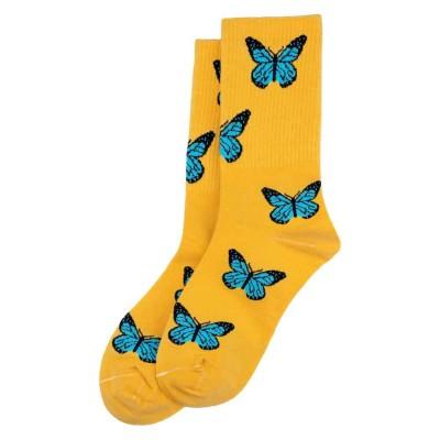 Socks (4-7) - Butterflies (Yellow)