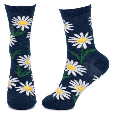 Socks (4-7) - Daisies (Navy)