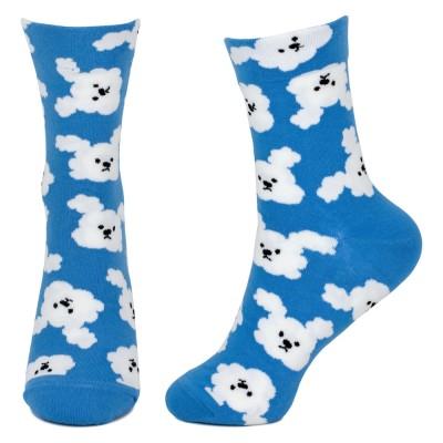 Socks (4-7) - Dog Cloud (Blue)